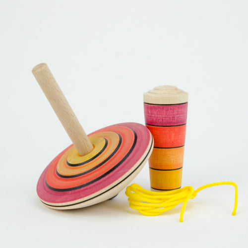 Mader My First Spinning Top with Starter - Red