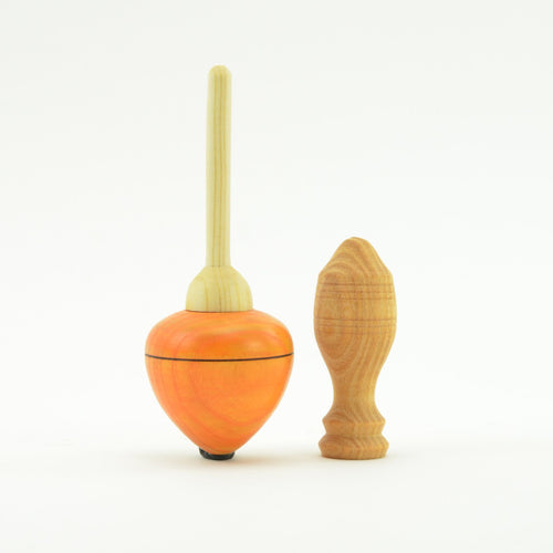 Mader Pull Off Spinning Top - Orange