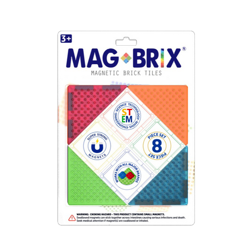 MAGBRIX® magnetic brick tiles - 8 pieces