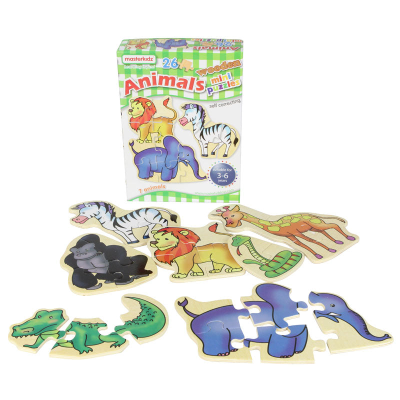 Wooden mini puzzles - animals
