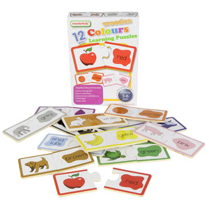 Wooden learning puzzles - colours