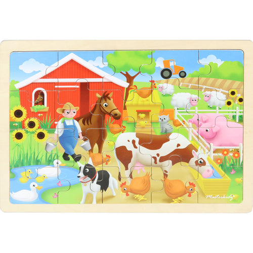 Wooden jigsaw puzzle - farm