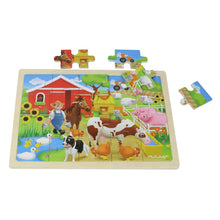 Load image into Gallery viewer, Wooden jigsaw puzzle - farm