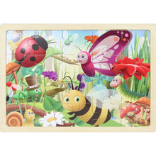 Load image into Gallery viewer, Wooden jigsaw puzzle - insects