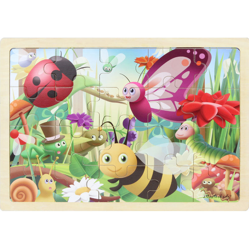Wooden jigsaw puzzle - insects