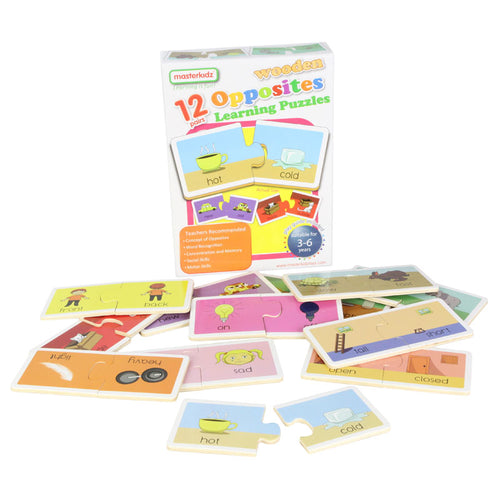 Wooden learning puzzles - opposites