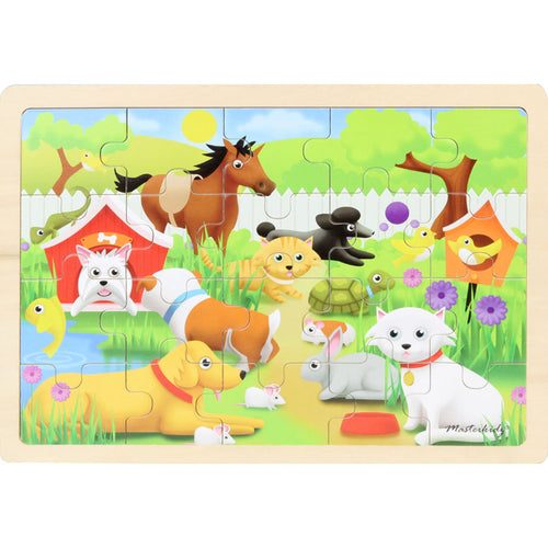 Wooden jigsaw puzzle - pets