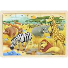Load image into Gallery viewer, Wooden jigsaw puzzle - safari