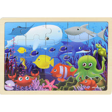 Load image into Gallery viewer, Wooden jigsaw puzzle - sea creatures