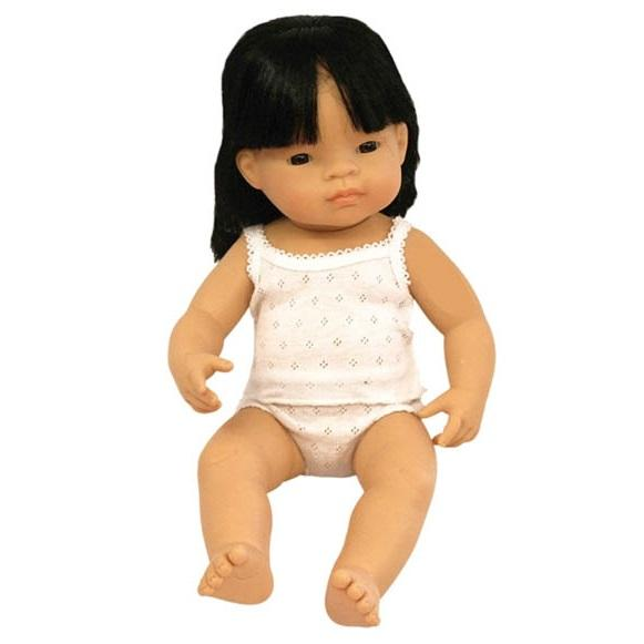 Miniland Asian girl doll