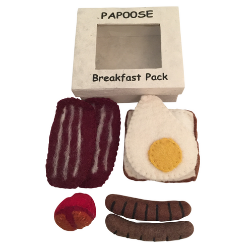 Felt breakfast set in box