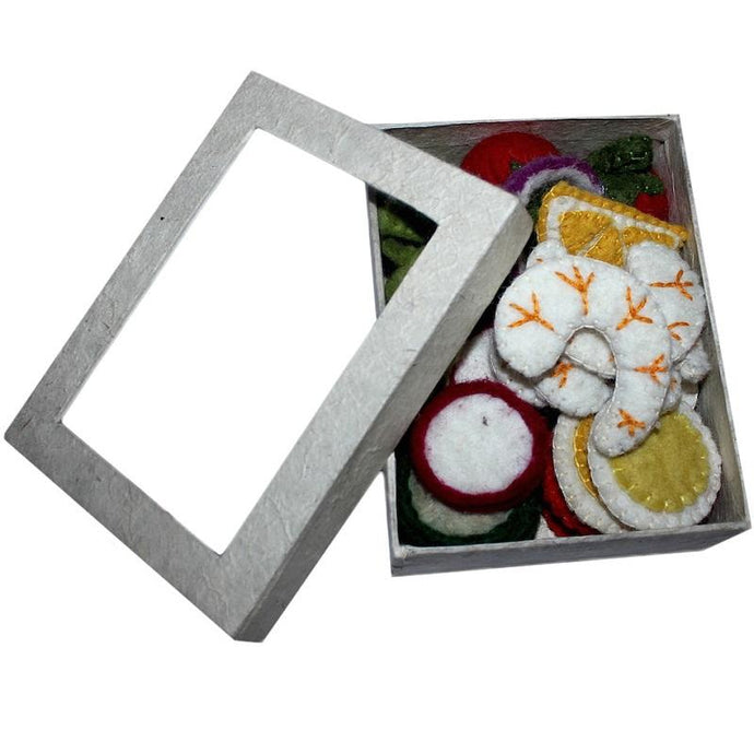 Felt salad set in box