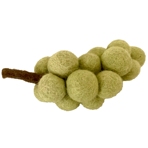Felt green grapes