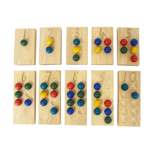 Wooden counting and maths boards