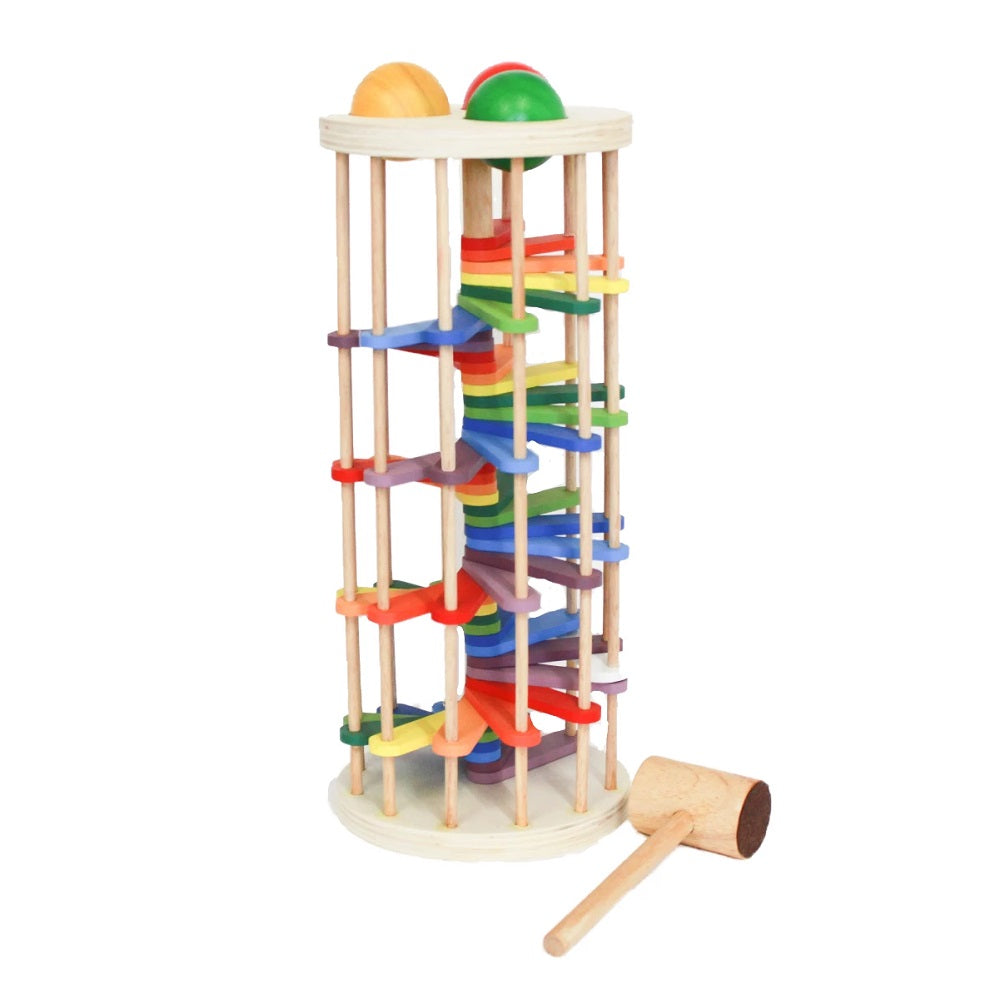 Wooden pound a ball tower