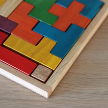 Load image into Gallery viewer, Wooden tetris blocks puzzle