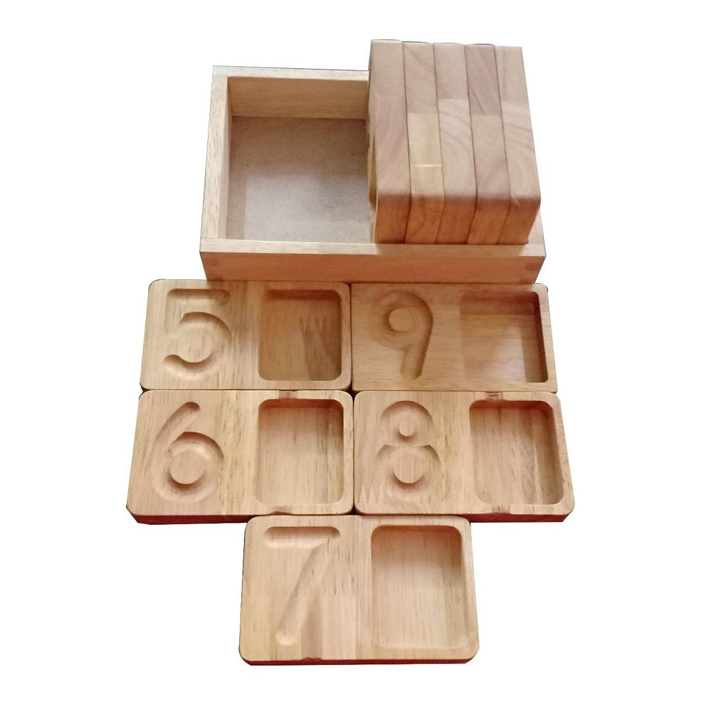 Wooden tracing and counting boards