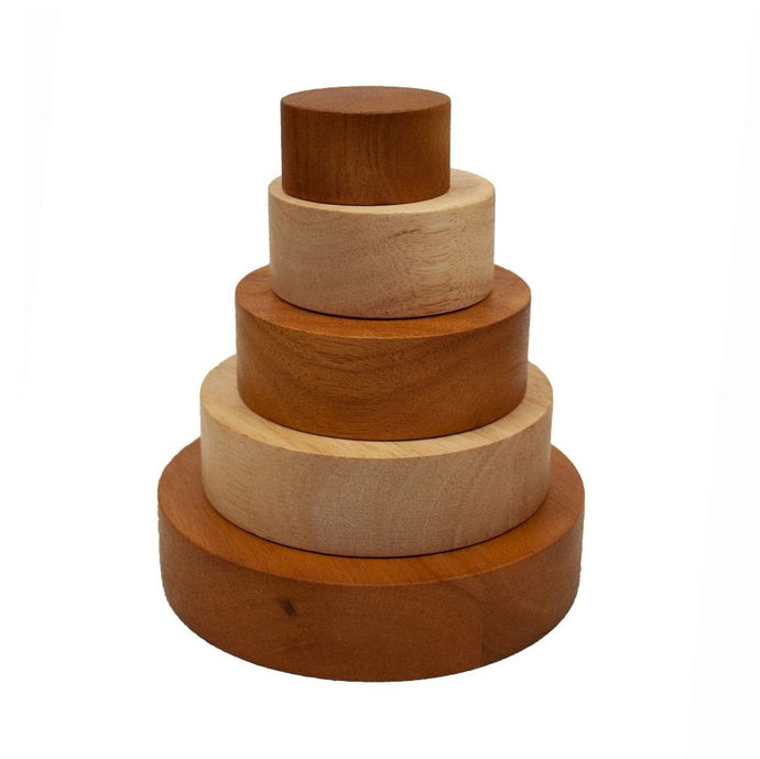 Two tone stacking and nesting bowls