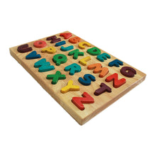 Load image into Gallery viewer, PRE-ORDER: Wooden uppercase alphabet puzzle