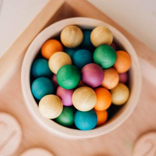 Wooden balls - set of 50