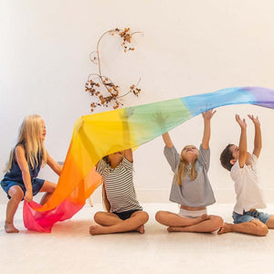 PRE-ORDER: Giant playsilk - rainbow