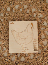 Load image into Gallery viewer, Stuka Puka chicken or the egg wooden puzzle
