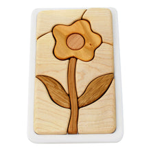 Load image into Gallery viewer, Wooden mosaic puzzle - flower