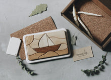 Load image into Gallery viewer, Wooden mosaic puzzle - sailing boat