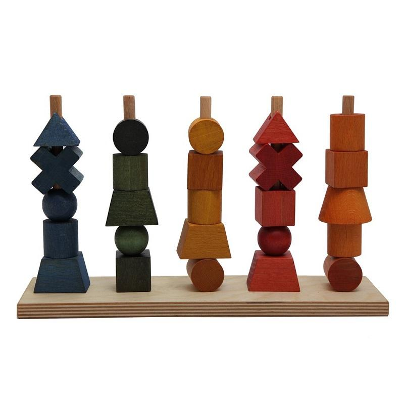 Wooden Story rainbow shape stacker