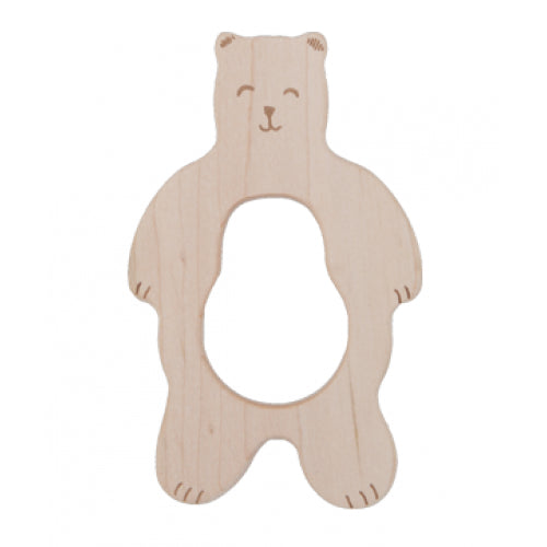 Wooden Story teether - smiley bear
