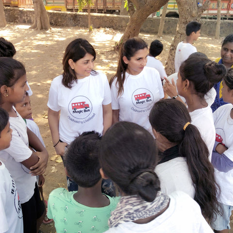 Magic Bus USA, volunteers in Bombay India