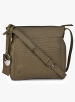 Phive Rivers Women's Leather Crossbody Bag  (Green_PR540)
