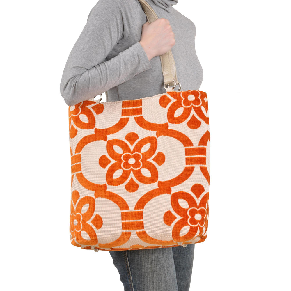 Stencil Teal Large Tote