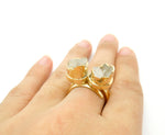 Raw Crystal Double Ring
