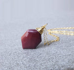 Hexagonal Mookaite Necklace