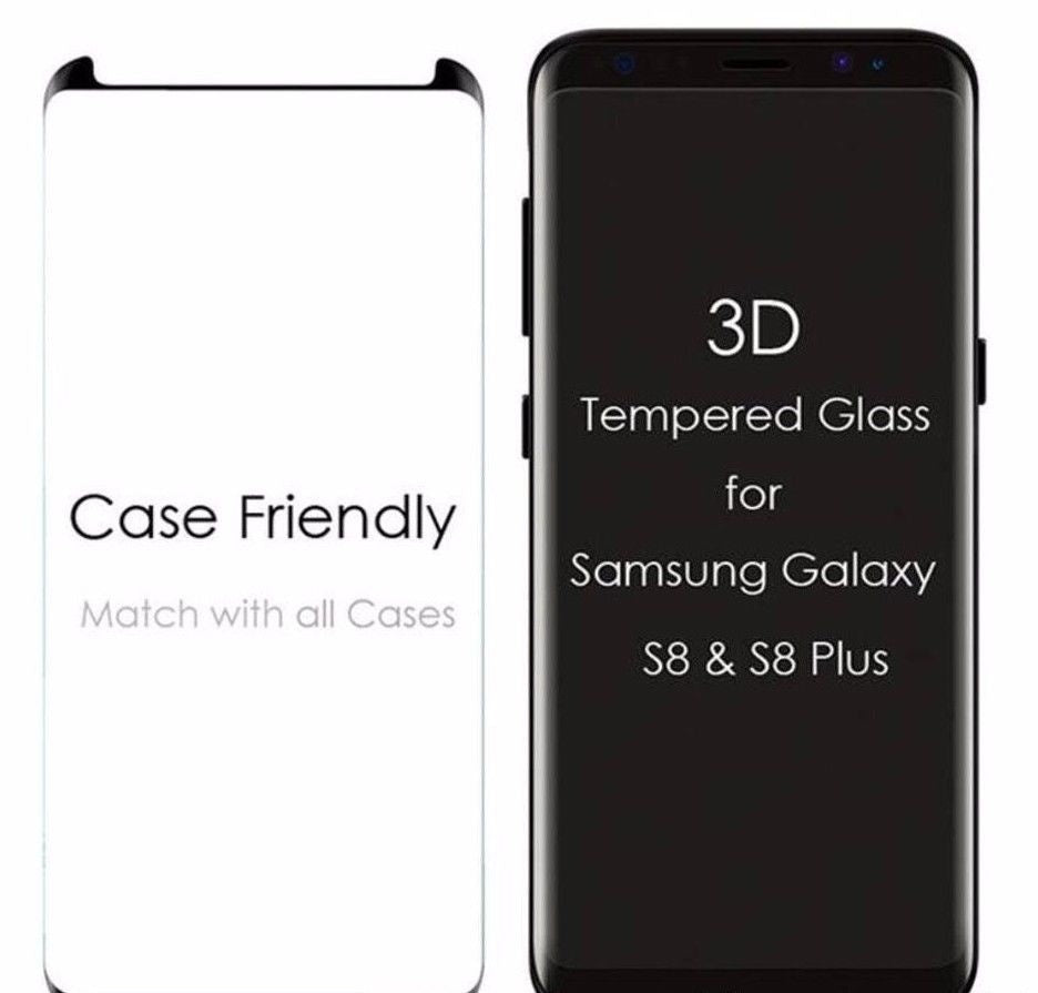 Premium 3D Mini S-Tech 9H Screen Film Case Friendly Tempered Glass Screen Protector for Samsung Galaxy S8+ Plus Galaxy Note8 S7