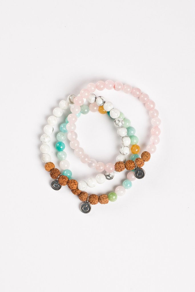 #Gemstone101: Rose Quartz, Mixed Amazonite & Howlite
