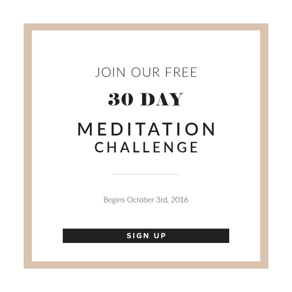 Join Our 30 Day Meditation Challenge