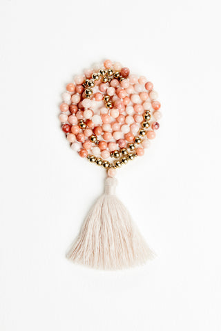 Golden Silk Jade Mala