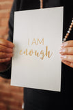 Affirmation Card - I Am Enough