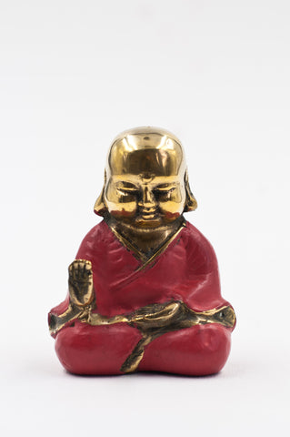 Coral Bronze Buddha - Protection