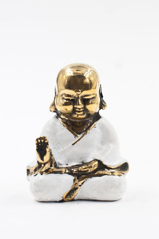 White Bronze Buddha - Protection