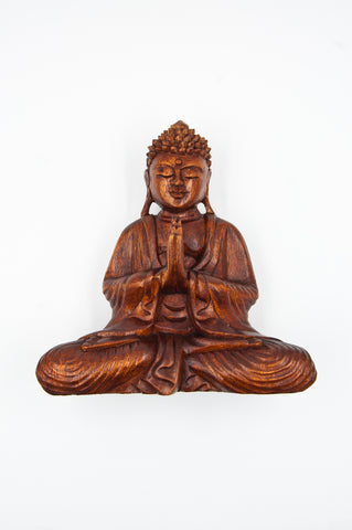 Hand Carved Prayer Buddha