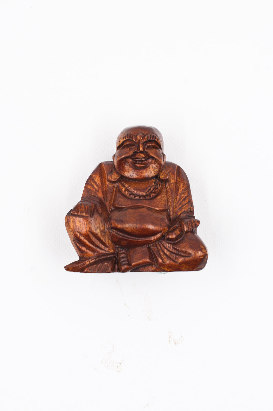 Hand Carved Happy Buddha - Small