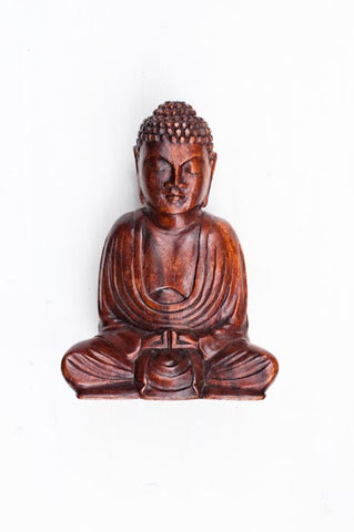 Hand Carved Sitting Buddha