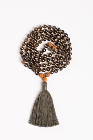 I Am Grounded Mala - Rudraksha
