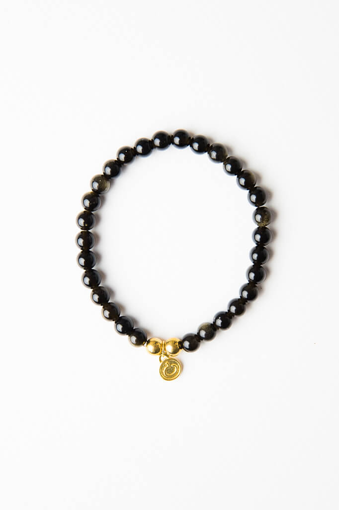 Luxe — Obsidian and Gold Bracelet (online exclusive)