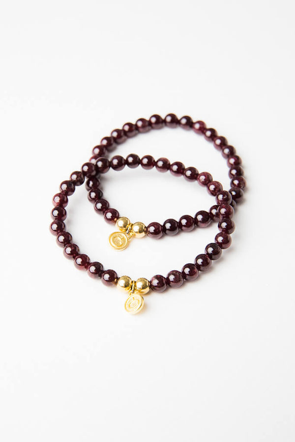 Luxe — Garnet and Bronze bracelet (online exclusive)