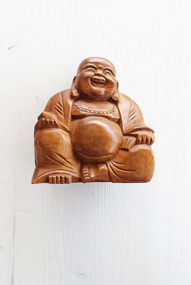 Hand Carved Happy Buddha - Medium