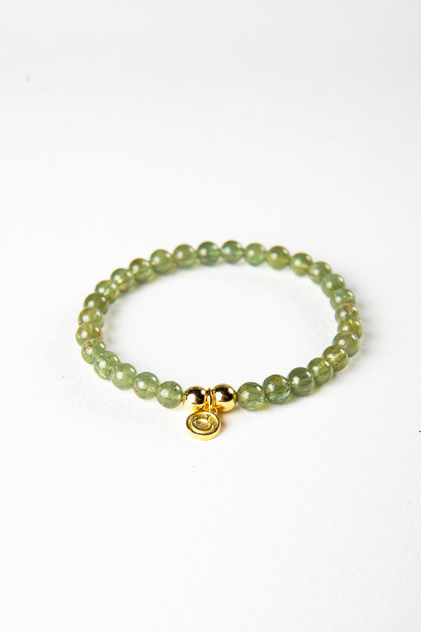 Luxe — Green Apatite and Gold Bracelet (online exclusive)